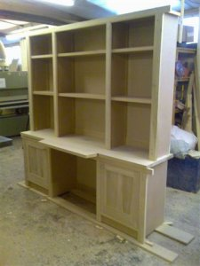 tulipwood library unit for painting