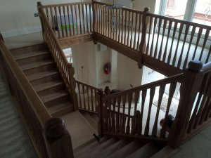 A.W. Oak staircase to clients own design